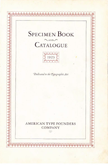 1923 ATF Specimen Book